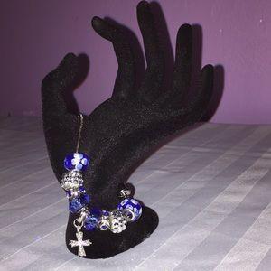 Jewelry - Custom Crafted Charm Bracelet- Blue